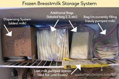 Frozen Breastmilk Storage Solution Explained: take a peek inside my freezer! | spotofteadesigns.com