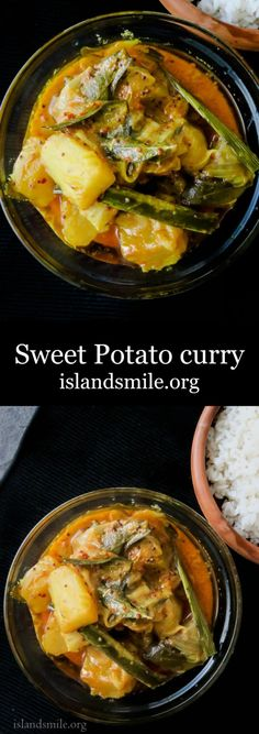 Tempered spicy sweet potato curry, cooked the Sri Lankan way, it's different, healthy, home-cooked, vegetarian and budget friendly-islandsmile.org