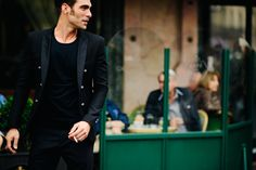 Man wearing black blazer