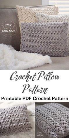 home decor items Make a stylish pillow. Crochet Pillow Patterns Free, Modern Crochet Patterns, Crotchet Patterns, Style Patterns, Crochet Cushion Cover, Crochet Cushions, Knit Or Crochet, Crochet Pillow Covers, Doilies Crochet