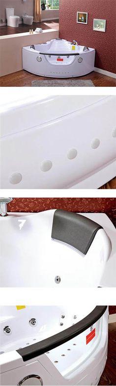 Badewanne mit 21 Düsen:  11 Luftdüsen auf dem Boden der Wanne montiert - mit JACUZZI-EFFEKT, 9 Jetdüsen ,  6 hydro Strahldüsen für die Rückenmassage, 4 große verchromte Düsen (drehbar)   #Badewanne #Wanne #Whirlpool #Jacuzzi #Massage #Spa #Eckwanne Radios, Whirlpool Jacuzzi, Spa Massage, Bathtub, Ebay, Closet Shelves, Bathing, Standing Bath, Bathtubs
