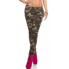Dames skinny jeans army