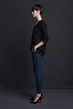 tuxedo stripe leggings+slouchy sweater~