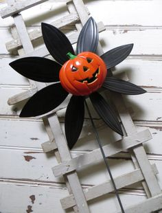 vintage whimsical plastic smiling pumpkin by OutAndAboutVintageII, $12.00