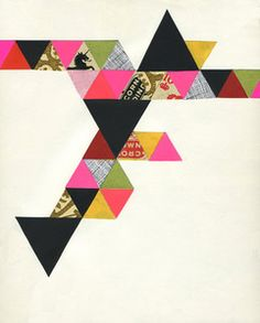 "Lisa Congdon ""Triangles""... Love her stuff. I wish we were related so I could get a family discount... ;)"