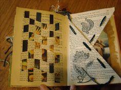 ♥♥ Θ Altered Book Pages---I've done most of these but it does not hurt to keep a reminder around. Θ (reference material) I am amazed at how many people repin this. But I shouldn't be, it is an awesome site with lots of great ideas.
