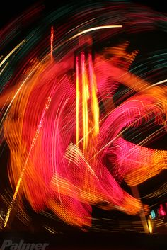 Fantastic Places Fine Art Photography - © 2012 Robert T. Palmer - All rights reserved. Abstract time-lapse photo. Lights In Motion series.