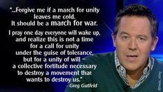 .@greggutfeld - A quote from his article on terror & tolerance. Read more: http://www.breitbart.com/big-government/2015/01/12/gutcheck-cartoonish-behavior/ … #RedEye  #TheFive