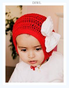 ❤   DIY (e-book) Anleitung  besteht aus professionell bebilderter Anleitung auf ENGLISH zum Häkeln von Baby oder Kinder Mütze mit einer großen Schl...