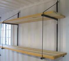 We sell 2 shelf brackets to organize your  shipping container!  http://www.outbackstoragecontainers.com