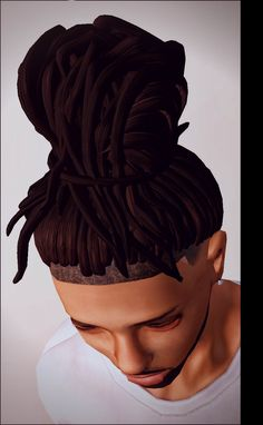 "yayasimblr: "" Messy TopBun Dreads • Teen-Adult Males Only • Found Male Hair TOU"