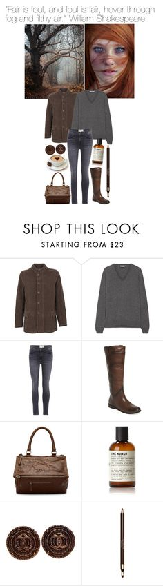 """27.10.2017"" by chrissy6 ❤ liked on Polyvore featuring LABO.ART, Prada, Current/Elliott, Frye, Givenchy, Le Labo, Chanel and Clarins"