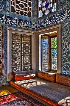 Adorable Architecture Inside The Topkapi Palace, Istanbul Islamic Architecture, Beautiful Architecture, Art And Architecture, Style At Home, Arabian Decor, Morrocan Decor, Islamic Decor, Interior And Exterior, Interior Design