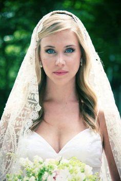 unique bridal mantilla veil - Google Search