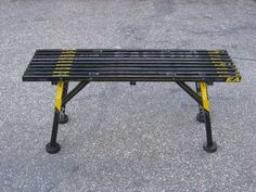 The hockey stick bench is a great piece of fully functional furniture that doesn't require a lot of sticks. Composite sticks are really strong, so even if you