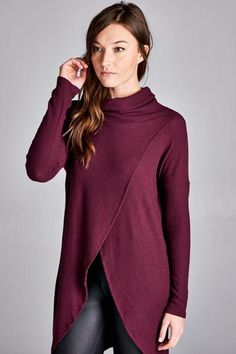 Stassi Cowl Neck Tunic Top - MOD&SOUL Fashion Clothing and Jewelry  - 1
