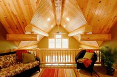 log great room with loft