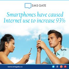 #DidYouKnow Smartphones have caused internet use to increase 93%