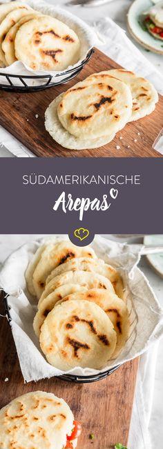 In Venezuela gibt es morgens statt Brötchen, in der Pfanne ausgebackene Arepas. Sie sind so schnell gemacht, dass du dir den Gang zum Bäcker sparen kannst.
