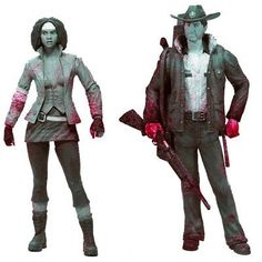 McFarlane Toys The Walking Dead: Series 1: Rick and Michonne (Black and White