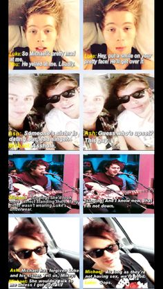 Imagine being Michael's sister and dating Luke. Super cute!!!
