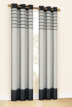 Duck River Cityscape Grommet Panels (Set of Bay Window Curtains, Curtains With Blinds, Window Panels, Window Coverings, Panel Curtains, Window Treatments, Curtain Panels, Faux Silk Curtains, Double Curtains