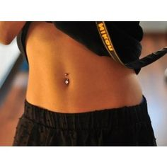 Simple belly button piercing stud | Ink Piercings | Pinterest