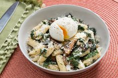 Mushroom Brown Butter Cavatelli with Lacinato Kale & Soft-Boiled Eggs. Visit https://www.blueapron.com/ to receive the ingredients.