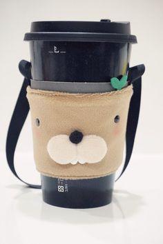 Bucute Malinois Eco-Friendly Beverage Bag/Beverage Cup Set/Environmental Cup Set/Handbag/Super-popular/Hand-made - Bucute - Beverage Holders & Bags Coffee To Go, Coffee Cups, Drink Bag, Green Cups, Drink Holder, Cupping Set, Mug Cup, Beverages, Tela