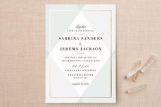 Creme Brulee Wedding Invitations by chocomocacino at minted.com