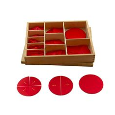 Cut-Out Labeled Fraction Circles from Montessori Outlet