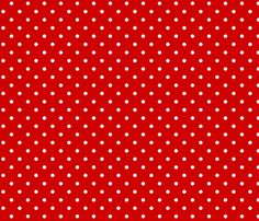 CHERRY RED DOTS LARGE fabric by juneblossom on Spoonflower - custom fabric