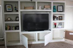 entertainment centers for living rooms | Remodelaholic | Living Room Renovation With DIY Entertainment Center ...