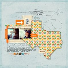 """Round Trip"" by Miki, as seen in the Club CK Idea Galleries. #scrapbook #scrapbooking #creatingkeepsakes"