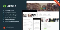 Miracle is a multi-purpose WordPress Premium Theme that is loaded with many different options and is fully responsive. It contains a total of 58 pages! The clean, modern design can be used for any ...