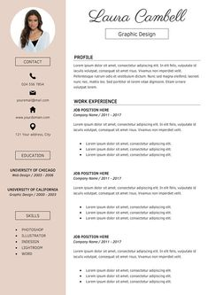 modern resume template cv template for word and pages resume template cv