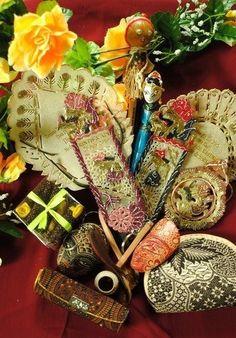 Wayang bookmark & Batik pouch by Juragan Wedding Souvenir