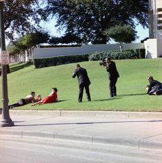 Aftermath of the Assassination in Dealey Plaza -- Bill and Gayle Newman