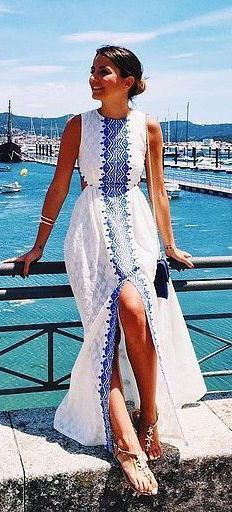 #summer #fashion / sleeveless maxi dress