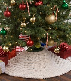 how to make a winter wonderland tree skirt crochet needles knit or crochet crochet - Joann Fabrics Christmas Decorations