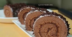 Ian always loves chocolate swissroll covered in chocolate rice sold in NTUC Hypermarts  This time I baked a similar one for him, but bigger ...