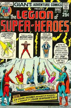 This was such a HUGE deal - this story arc. Superheroes just didn't up and DIE! Adventure Comics #403