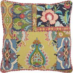Boho Patchwork Pillow | Pier 1 Imports #pillow #homedecor #ad