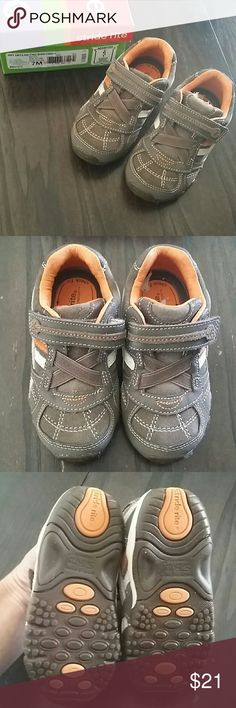 NWT STRIDE RITE NWT STRIDE RITE shoes/sneakers Brown and orange Single Velcro close Elastic instep Comes in original box Smoke free home Stride Rite Shoes