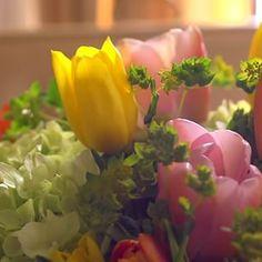 Spring Centerpiece #mossmountainfarm #decor #pallensharethebounty #tulips #farmchic