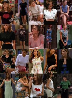 4 Vintage Outfits for young women Rachel Green Outfits, Friends Rachel Outfits, Estilo Rachel Green, Rachel Green Style, Friend Outfits, Rachel Green Fashion, School Outfits, Rachel Green Costumes, Rachel Friends