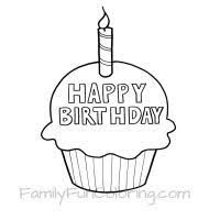 Image Result For Coloring Pages Cupcake Happy Birthday Coloring Pages Birthday Coloring Pages Cupcake Coloring Pages