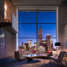 "stylish-homes: "" Living room of a New York penthouse. """