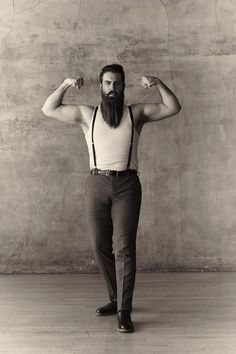 flickr-beard-power:  This is Incredibeard.Look closer at the photo, you can see a great beard!Plus, those pants are a bit tight??!! Follow:  http://flickr-beard-power.tumblr.com/