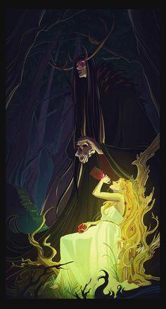 Hades and Persephone, Alexandria Huntington on ArtStation at https://www.artstation.com/artwork/Wgno3